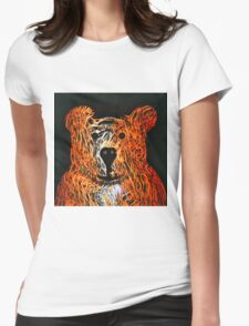 Honey Bear Large Womens Fitted T-Shirt