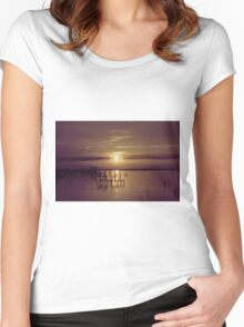 Golden Sunset Women's Fitted Scoop T-Shirt
