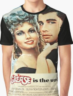 Grease Is The Word Poster Graphic T-Shirt