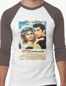 Grease Is The Word Poster Men's Baseball ¾ T-Shirt