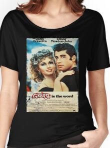 Grease Is The Word Poster Women's Relaxed Fit T-Shirt