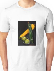 Green and yellow marrows with apples Unisex T-Shirt