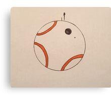 Minimalist BB-8 Canvas Print