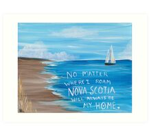 Nova Scotia Sailboat  Art Print