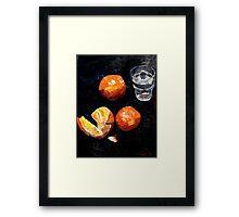 Oranges and glass Framed Print