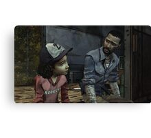 The Walking Dead-Clementine and Lee Canvas Print