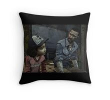 The Walking Dead-Clementine and Lee Throw Pillow