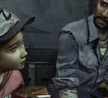 The Walking Dead-Clementine and Lee Sticker
