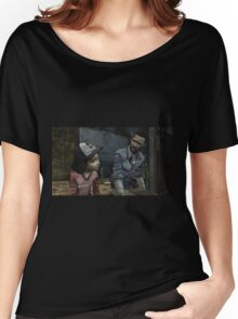 The Walking Dead-Clementine and Lee Women's Relaxed Fit T-Shirt