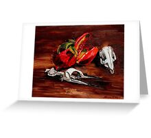 penguin and pomegranate  Greeting Card