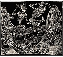 Totentanz / Dance of macabre - white print Photographic Print