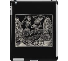 Totentanz / Dance of macabre - white print iPad Case/Skin