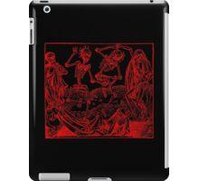 Totentanz / Dance of macabre - red print iPad Case/Skin