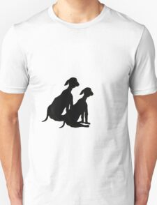 Silhouette Dog Pair   T-Shirt