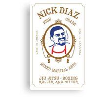 Nick Diaz Rolling Papers - High Grade Mixed Martial Arts Canvas Print