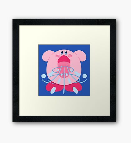 Kirby Inhale Framed Print