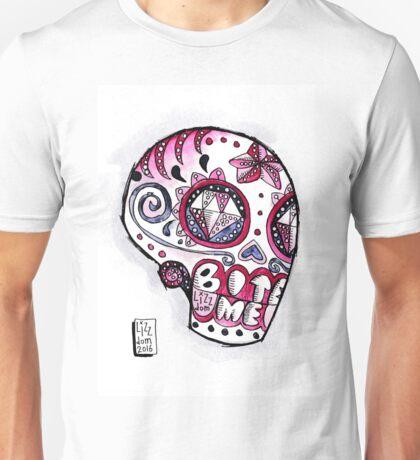 BITE ME SUGAR SKULL Unisex T-Shirt