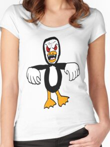 Penguin Monster Women's Fitted Scoop T-Shirt