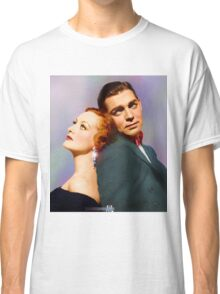 Colorized Joan Crawford & Clark Gable in 1931 Possessed Classic T-Shirt