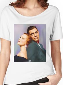 Colorized Joan Crawford & Clark Gable in 1931 Possessed Women's Relaxed Fit T-Shirt