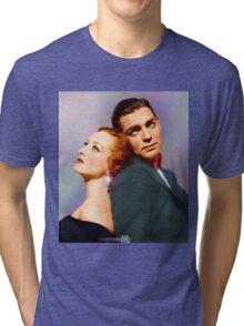 Colorized Joan Crawford & Clark Gable in 1931 Possessed Tri-blend T-Shirt