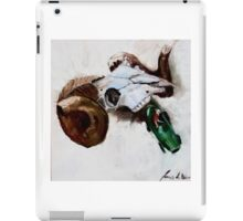 Ram with toy racing car driven by cow iPad Case/Skin