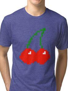 Pixel Cherry  Tri-blend T-Shirt