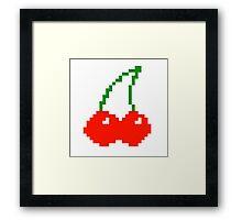 Pixel Cherry  Framed Print