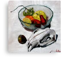 wombat fruit bowl Canvas Print