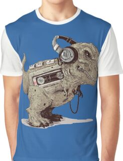 Record Store Day : Dino Loves Music Graphic T-Shirt