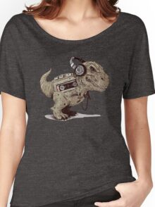 Record Store Day : Dino Loves Music Women's Relaxed Fit T-Shirt