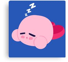 Sleepy Kirby Canvas Print