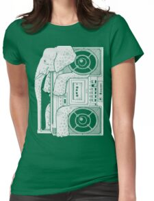 Record Store Day : Elephant Loves Music Style Womens Fitted T-Shirt
