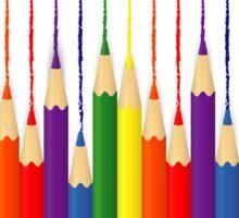 Coloured Pencils Galore  Sticker