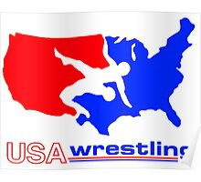 Team USA Wrestling Poster