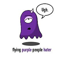 Flying Purple People Hater With Text Photographic Print