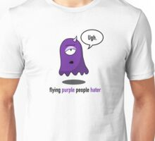 Flying Purple People Hater With Text Unisex T-Shirt