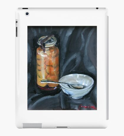 preserved apricots  with bowl and spoon iPad Case/Skin