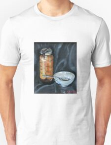 preserved apricots  with bowl and spoon Unisex T-Shirt