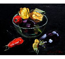beautiful vegetables on black     Photographic Print