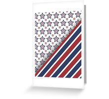 Usa Red White And Blue Greeting Card