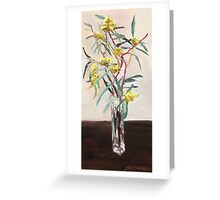 Yellow gum blossoms      Greeting Card