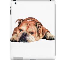 Sleeping English Bulldog Graphic iPad Case/Skin