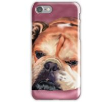 Sleeping English Bulldog with Background iPhone Case/Skin