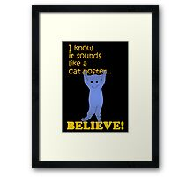 Quotes and quips - believe! Framed Print