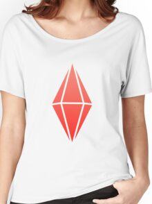 Sims Plumbob - Red Women's Relaxed Fit T-Shirt