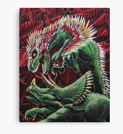 Murder in the Mesozoic Canvas Print