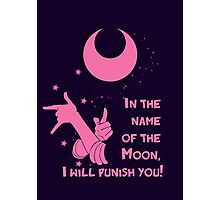 Quotes and quips - in the name of the moon, Photographic Print