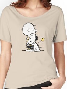 love it snoopy hug Women's Relaxed Fit T-Shirt