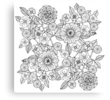Floral Monochrome  Canvas Print